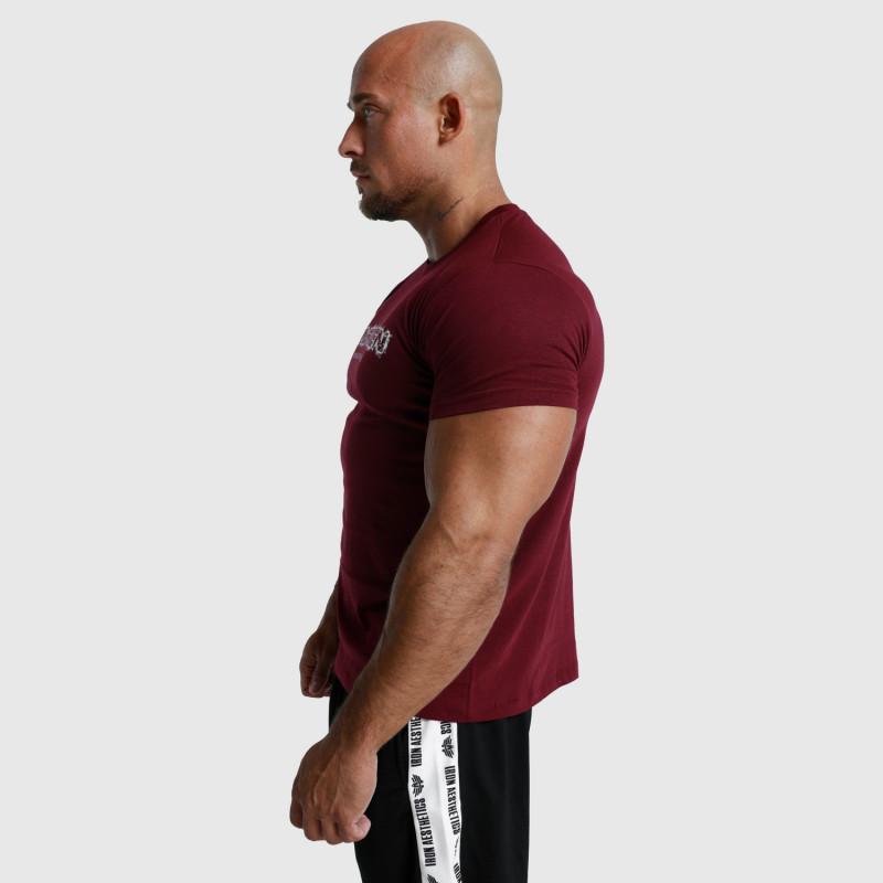 Pánske fitness tričko Iron Aesthetics Unbroken, bordové-5