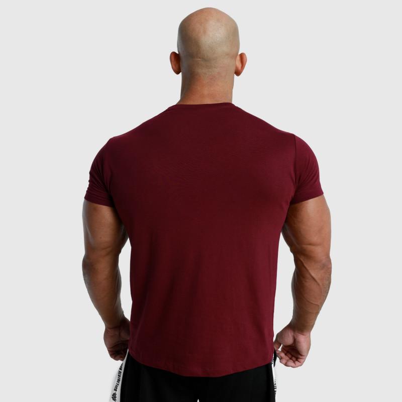Pánske fitness tričko Iron Aesthetics Unbroken, bordové-2