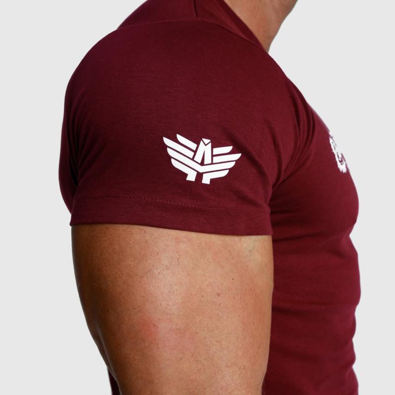 Pánske fitness tričko Iron Aesthetics Unbroken, bordové-4