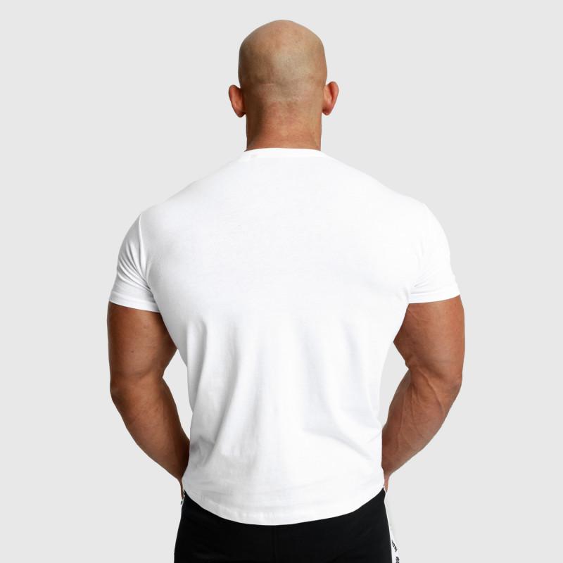 Pánske fitness tričko Iron Aesthetics Unbroken, biele-3