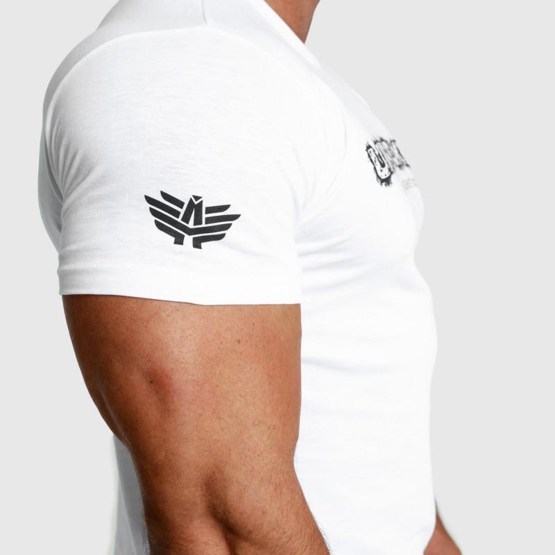 Pánske fitness tričko Iron Aesthetics Unbroken, biele-5