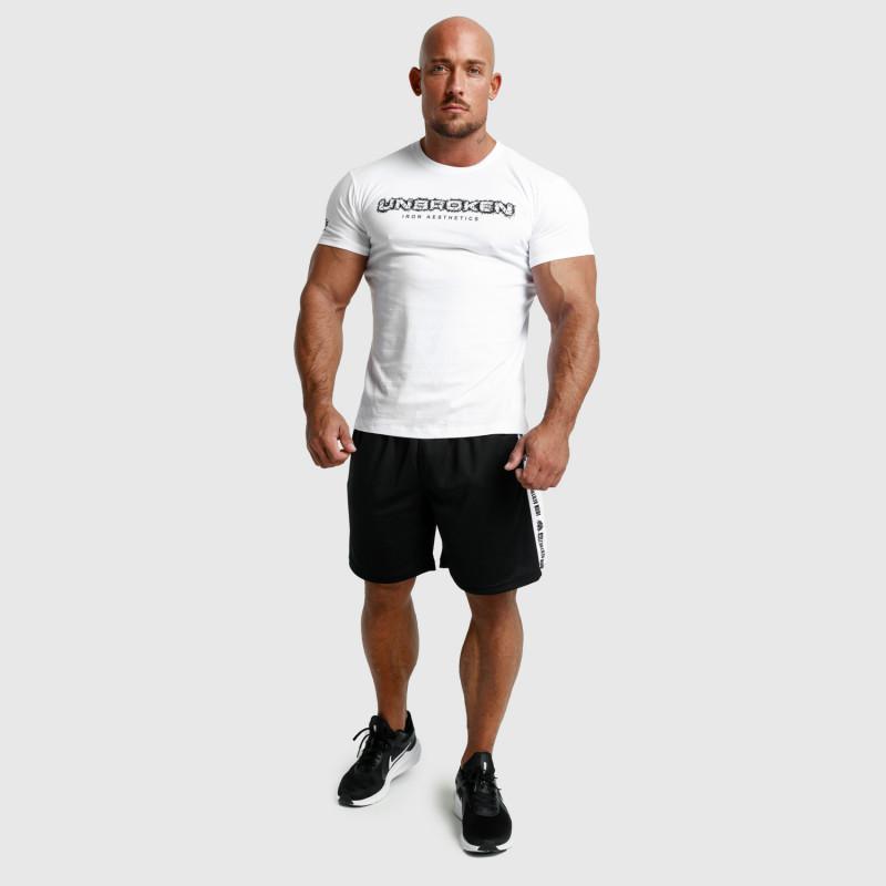 Pánske fitness tričko Iron Aesthetics Unbroken, biele-6