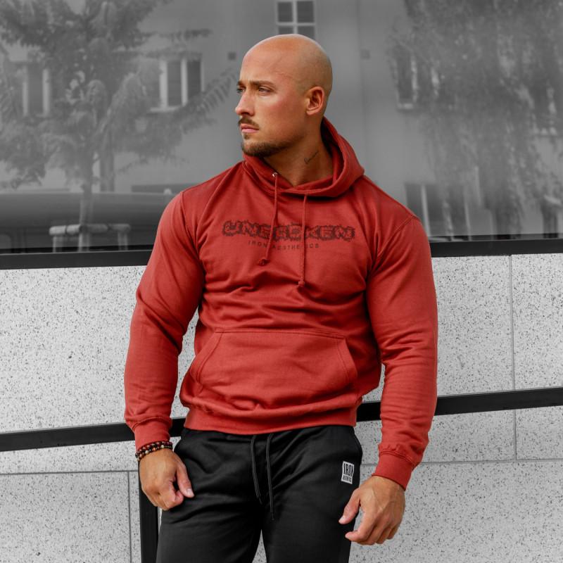 Fitness mikina bez zipsu Iron Aesthetics Unbroken, rustikal-2