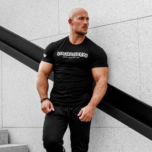 Pánske fitness tričko Iron Aesthetics Unbroken, čierne