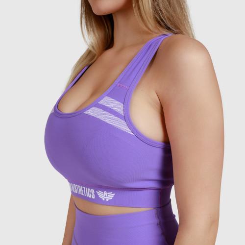 Dámska športová podprsenka Double Stripe - Iron Aesthetics, fialová