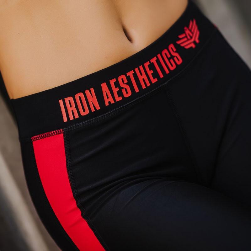 Dámske legíny HEART - Iron Aesthetics, červené-3