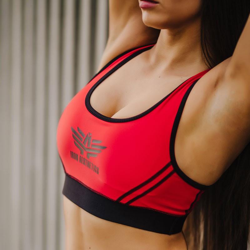 Levně Dámská sportovní podprsenka - Iron Aesthetics, červená