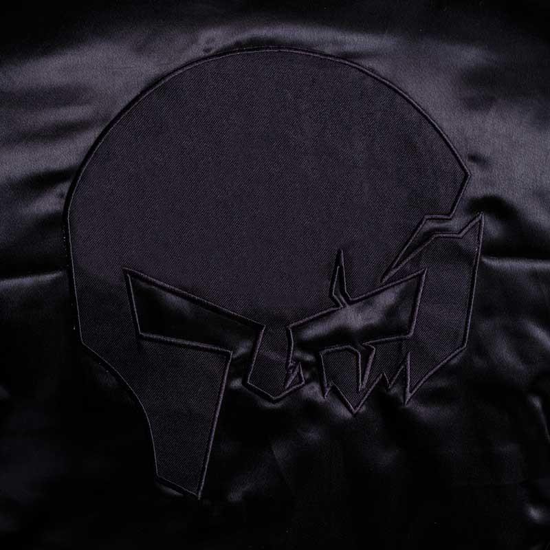 Bomber bunda Aesthetics Skull, black on black-6