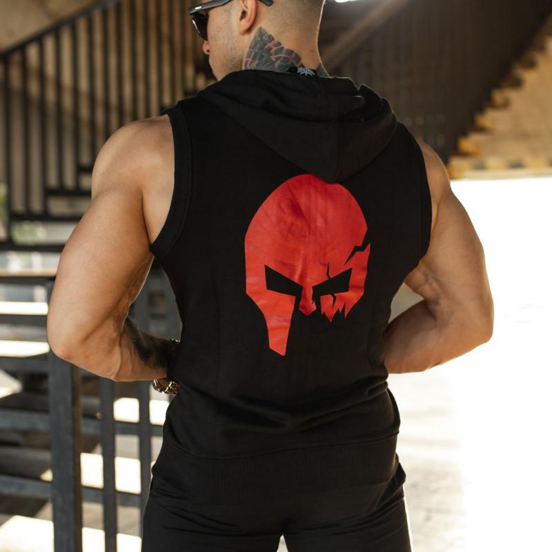 Pánska mikina Iron Aesthetics Sleeveless Skull, B&R-1