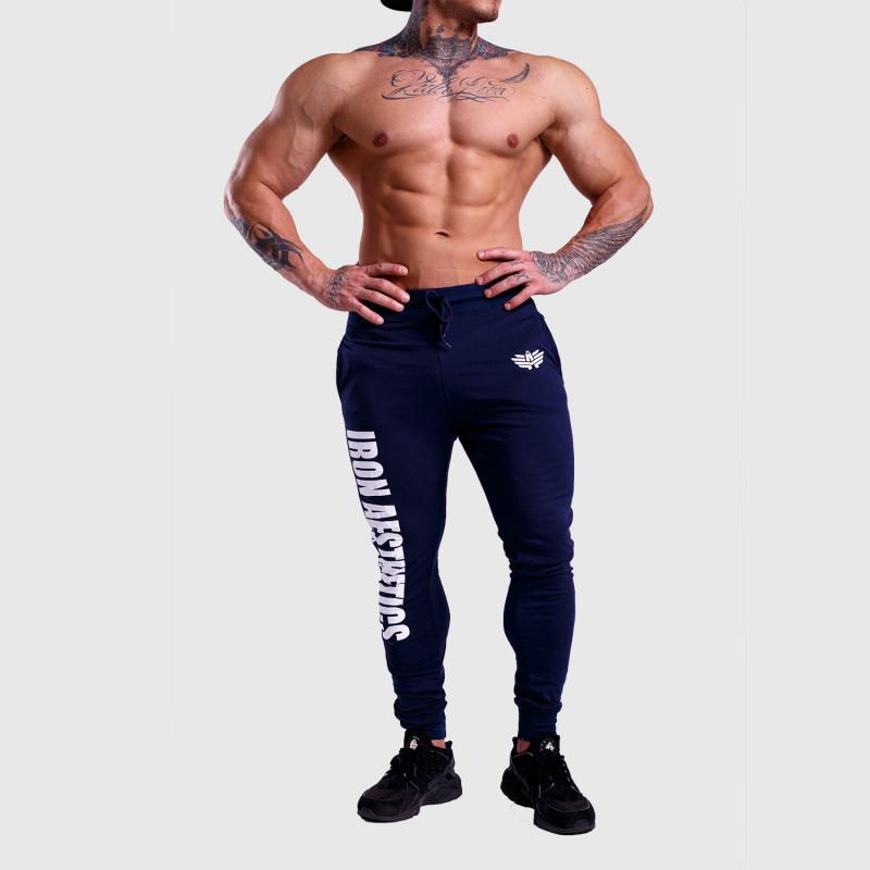 Jogger tepláky Iron Aesthetics Vertical, modré-6
