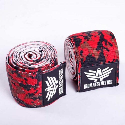 Bandáže na kolená Iron Aesthetics, červené