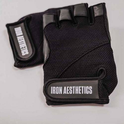 Fitness rukavice Iron Aesthetics, čierne