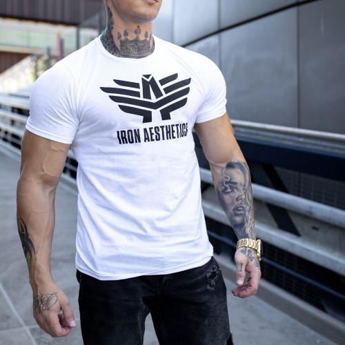 Ultrasoft tričko Iron Aesthetics W&B, biele