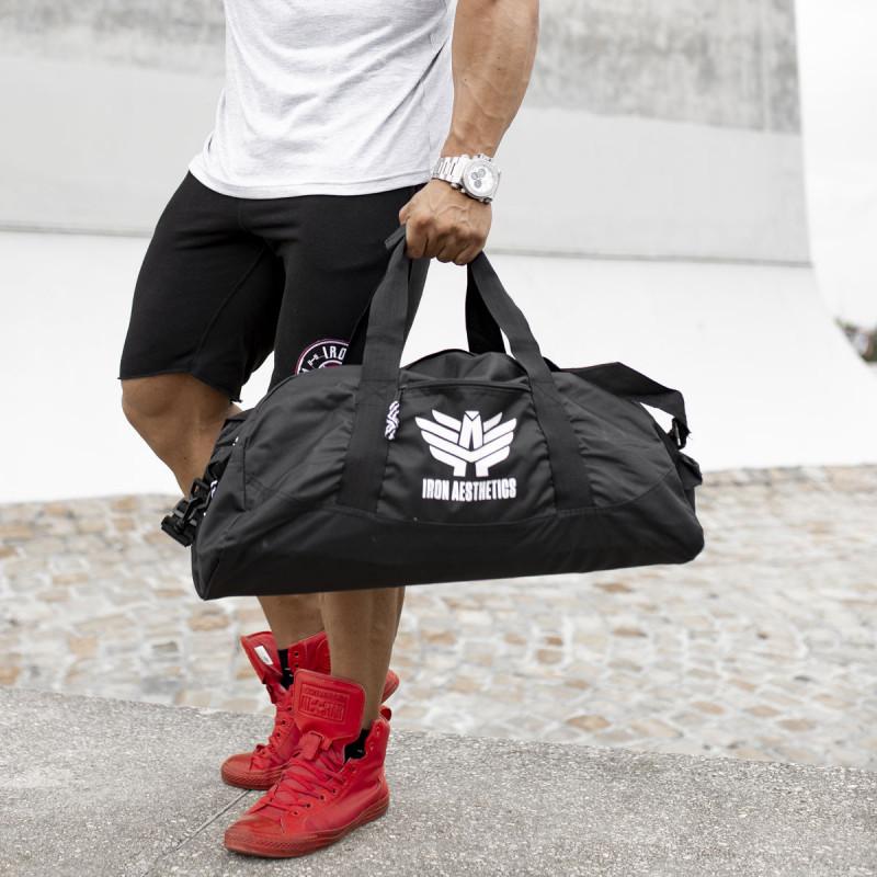 Levně Sportovní taška Iron Aesthetics, černá