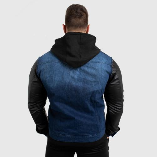 Pánska RIFĽOVÁ bunda Iron Aesthetics, modrá
