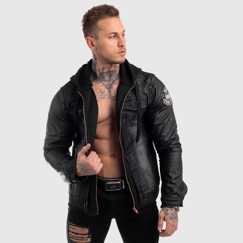 Pánska RIFĽOVÁ bunda Iron Aesthetics, čierna